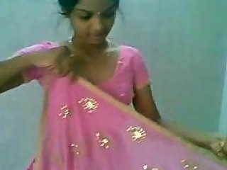 Indian Andhra Lady In Saree From Thirupathi