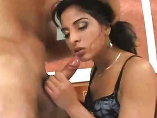 Pretty Indian Girl Does Some Nice Sucking Before Some Hot